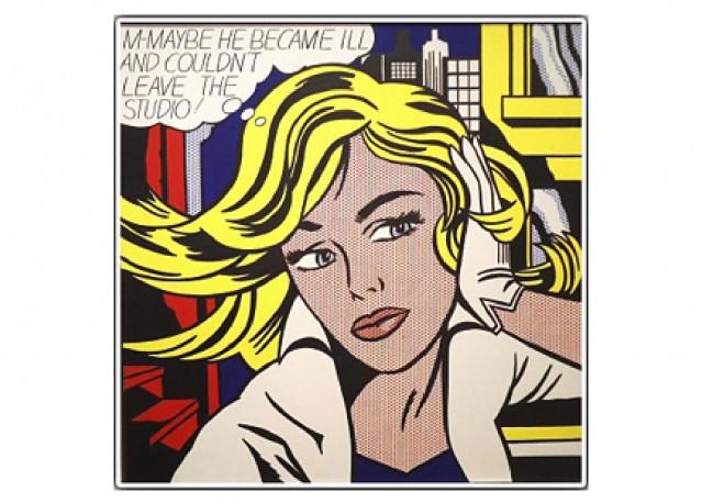 M. Roy Lichtenstein - 50 x 50 cm