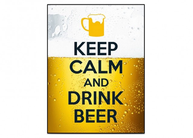 Keep Calm and drink beer - 40 x 53 cm