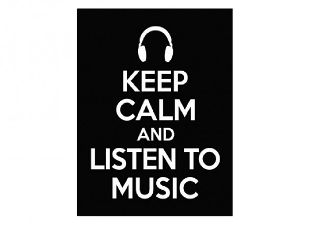 rent keep calm and listen to music 40 x 53 cm arts rental get