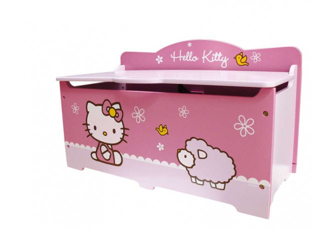location coffre jouet en bois hello kitty. Black Bedroom Furniture Sets. Home Design Ideas