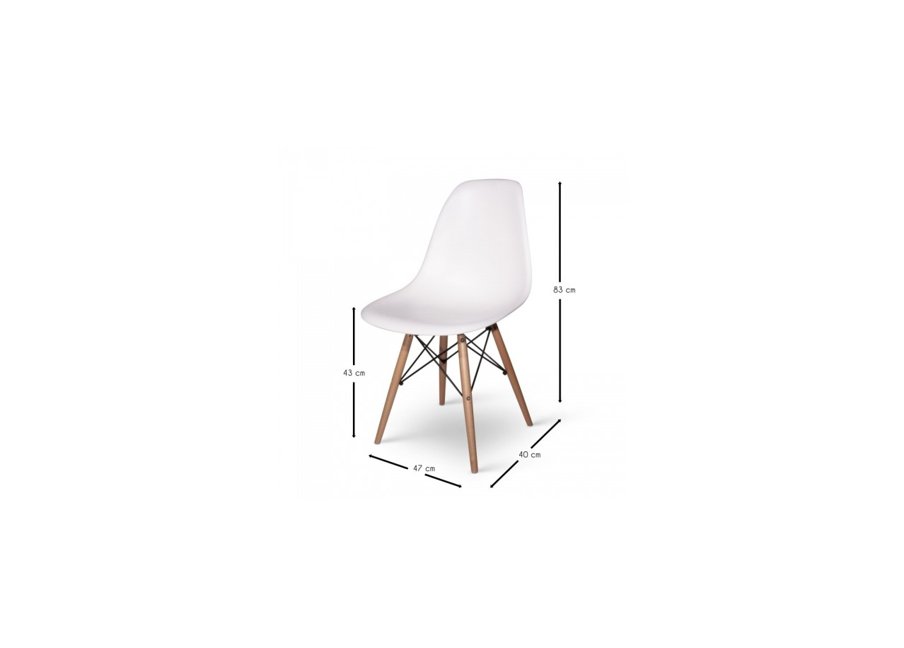 Rent chaise eames dsw chairs rental get furnished for Chaise scandinave dsw