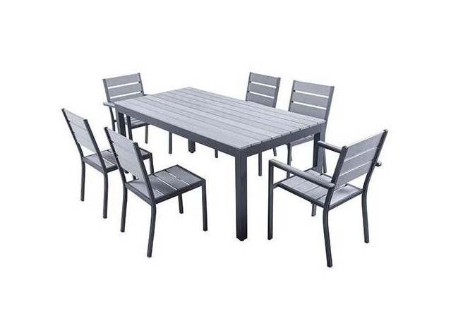 Rent set magda garden table 180 cm 4 chairs 2 armchairs terrace tables rental get - Table jardin naterial villeurbanne ...