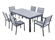 Set MAGDA - Garden table 180 cm + 4 chairs + 2 armchairs