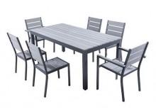 Ensemble MAGDA - Table de jardin 180 cm + 4 chaises + 2 fauteuils