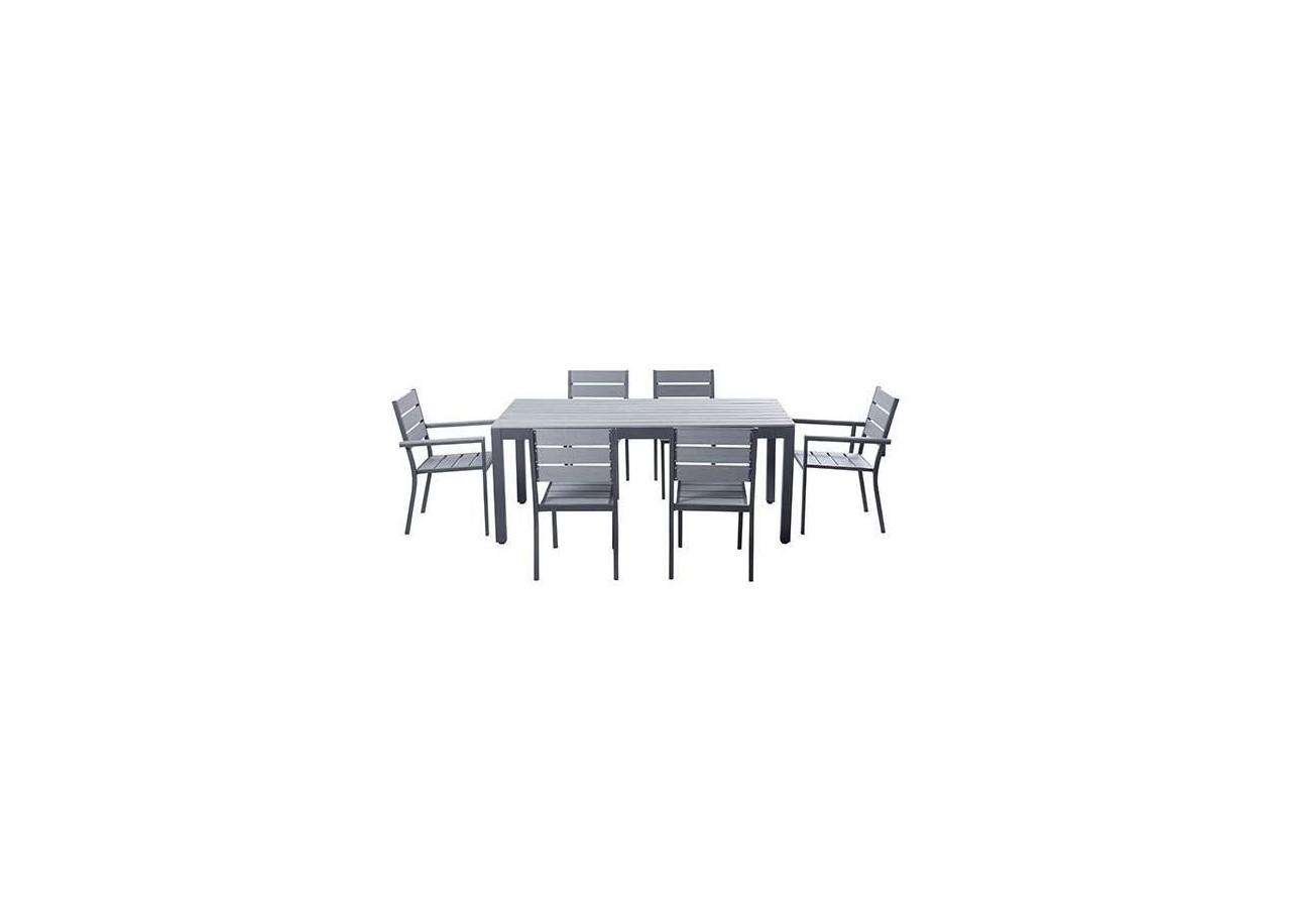 table de 180 ... Ensemble MAGDA - Table de jardin 180 cm + 4 chaises + 2 fauteuils ...