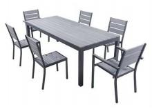 Ensemble MAGDA - Table de jardin 220 cm + 6 chaises + 2 fauteuils