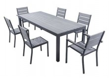 Set MAGDA - Garden table 220 cm + 6 chairs + 2 armchairs