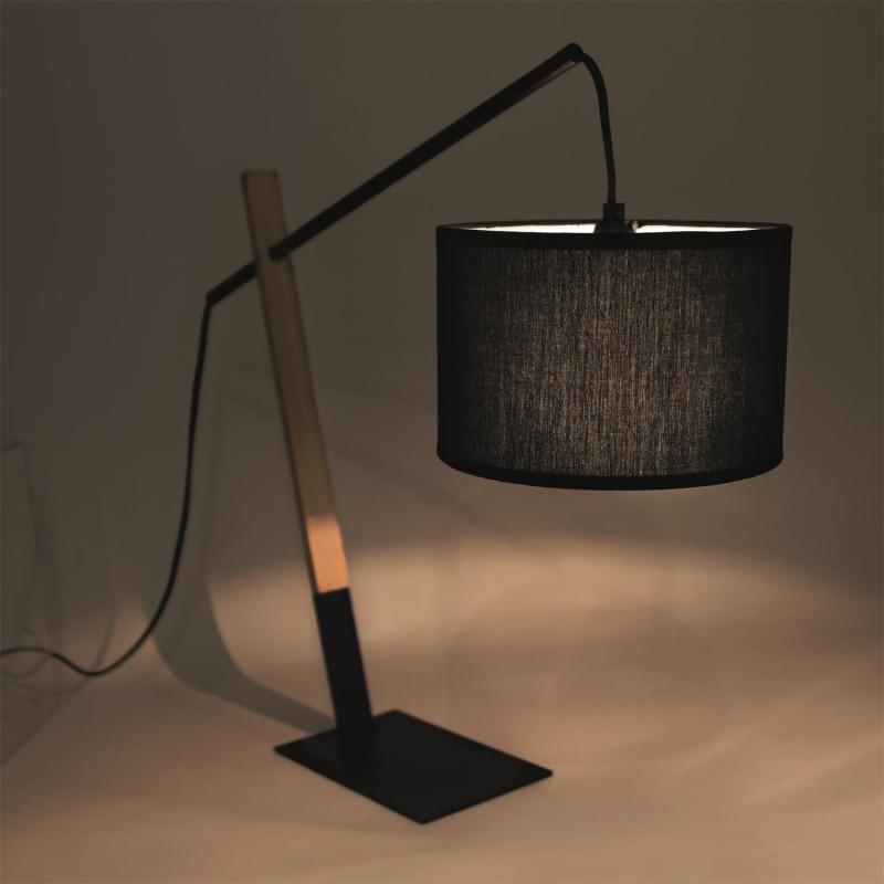 location lampe en bois et m tal deco. Black Bedroom Furniture Sets. Home Design Ideas